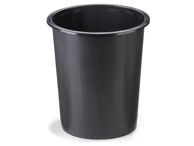 corbeille papier en plastique noir 40 l contact raja. Black Bedroom Furniture Sets. Home Design Ideas