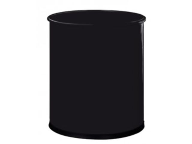 corbeille papier metal noir 15l contact mon bureau et moi. Black Bedroom Furniture Sets. Home Design Ideas