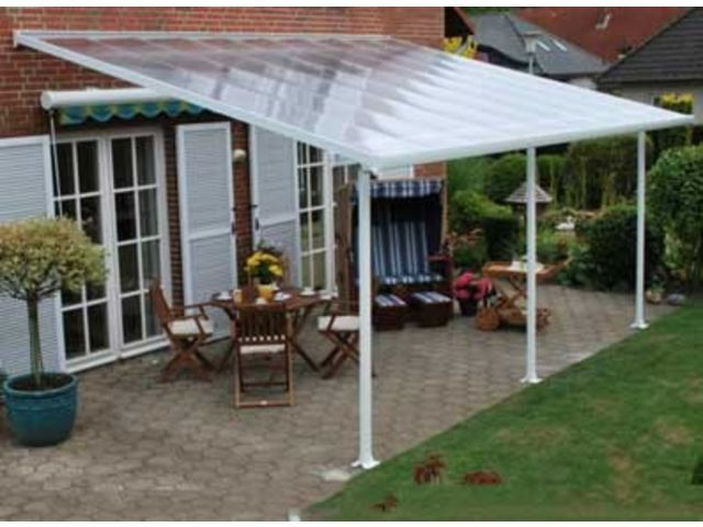 Couverture terrasse alu en 6 x 4 m | Contact FRANCE ABRIS