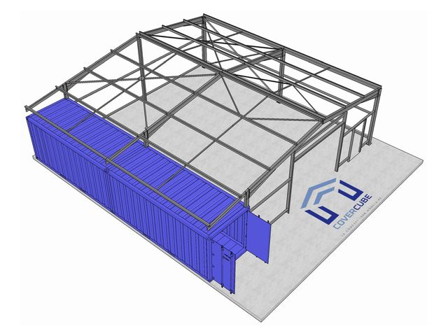 Covercube b timent container contact edifices for Devis container