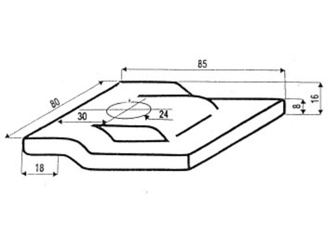 crapaud de fixation pour rails de grue contact btmat. Black Bedroom Furniture Sets. Home Design Ideas