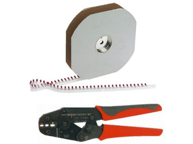 Crimp Tool+reel Red Ring Terminal Kit