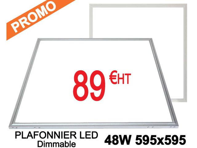 plafonnier LED 600*600 mm 48W Dimmable