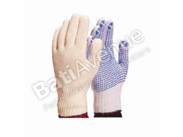 delta plus gant tricot polyester coton avec picots pvc tp16907 contact bati avenue. Black Bedroom Furniture Sets. Home Design Ideas