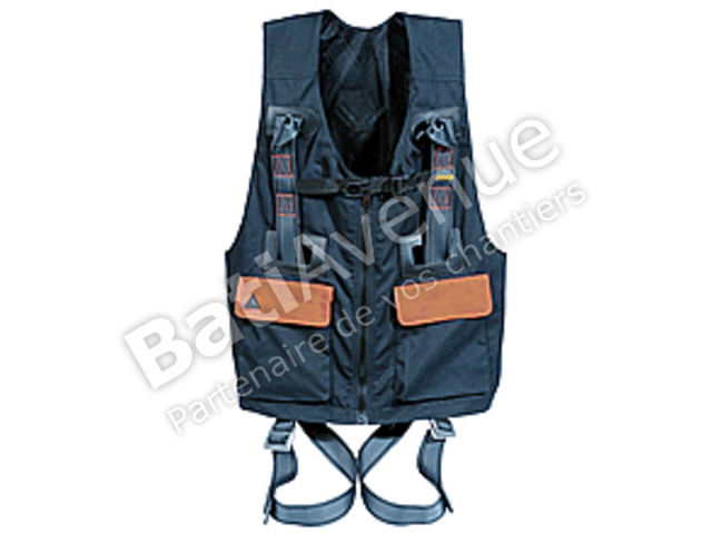 DELTA PLUS- HARNAIS ANTICHUTE GILET DE TRAVAIL 2 POINTS D'ACCROCHAGE -  HA554M