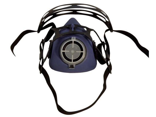 2739bc02cf735d Demi-masque de protection respiratoire bi-filtre en élastomère, avec  système de fixation