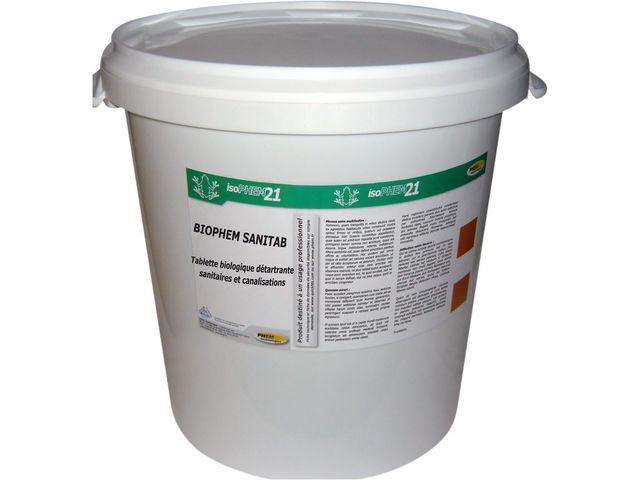 d tartrant bio en pastilles pour cuvettes de wc urinoirs et canalisations biophem sanitab. Black Bedroom Furniture Sets. Home Design Ideas