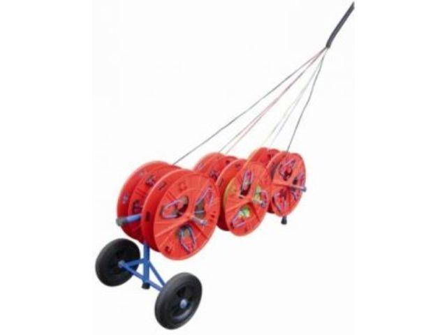 devidoir bobine fil electrique Dévidoir à roulettes pour 6 couronnes de fils, jusquu0027au 6² : MAXI-