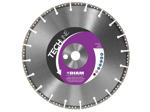 Disque Diamant RS60350   Ø350   Alésage 20-25,4  - Techline - Diam Industries