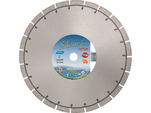 Disque SILENCIO pour Scies à Sol Diamètre 350 mm  Norton Clipper
