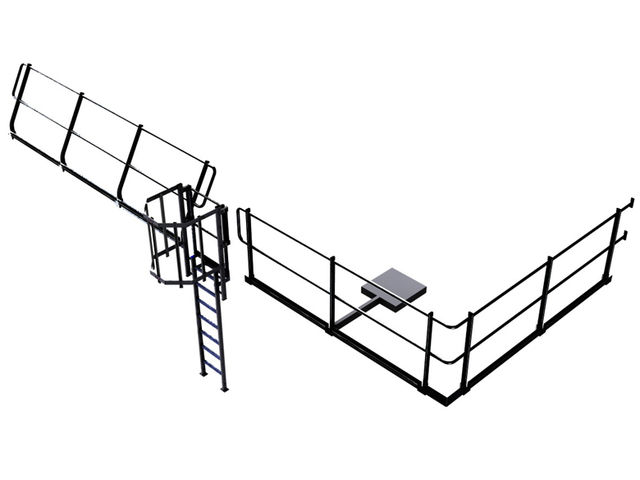 echelle crinoline avec garde corps aluminium lisse sous lisse et plinthes contact matis re. Black Bedroom Furniture Sets. Home Design Ideas