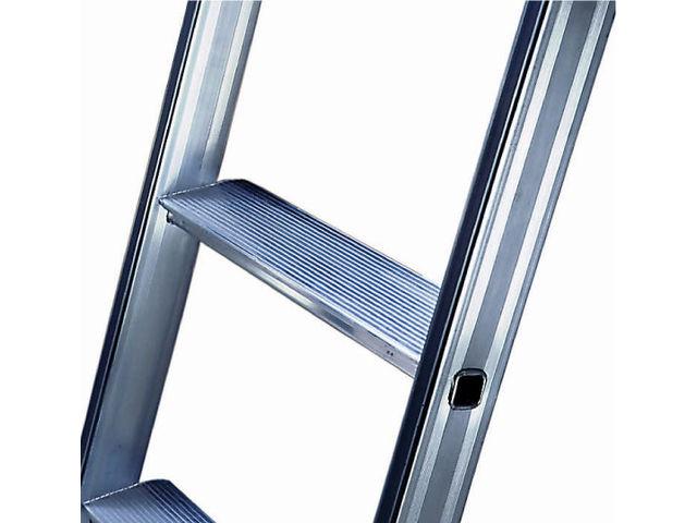 Fabuleux Echelle de meunier aluminium avec 2 rampes latérales - marches de  PX04