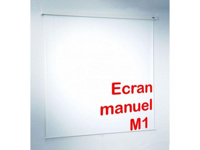 Ecran de projection manuel contact roll co for Ecran de projection mural manuel