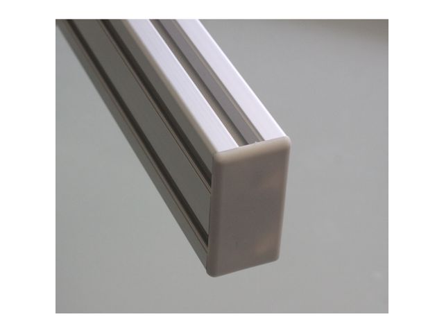End Cap 30x60 8 mm slot profile - Grey
