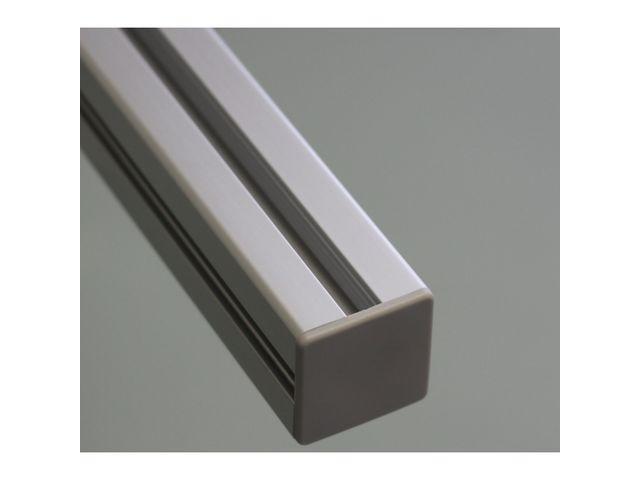 embout de protection pour profil s aluminium 50x50 fente de 10mm gris contact systeal. Black Bedroom Furniture Sets. Home Design Ideas
