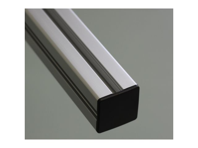 Embout de protection pour profil s aluminium 60x60 fente de 10mm noir contact systeal for Profile aluminium noir