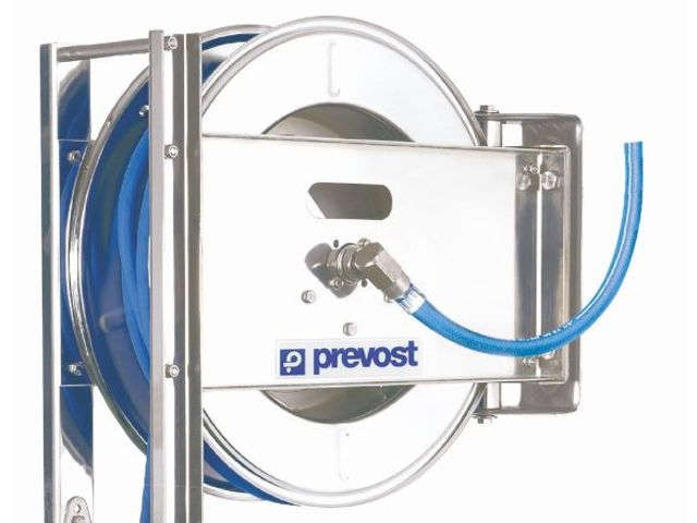 enrouleur de tuyau flexible ouvert en inox pour l 39 eau contact prevost air comprime. Black Bedroom Furniture Sets. Home Design Ideas