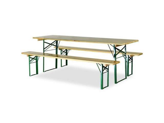 ensemble bancs et table de brasserie avec pieds profilés | contact