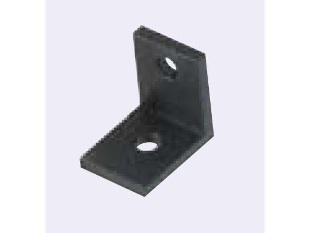 Equerre Fine Pour Profilé Aluminium 40 Fente De 10 Mm Anodisé Noir
