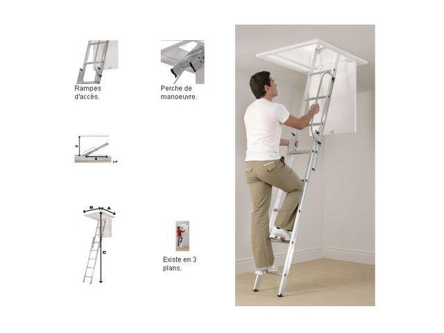 escalier escamotable en aluminium contact pro signalisation. Black Bedroom Furniture Sets. Home Design Ideas