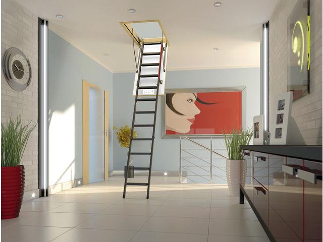 Extrem Escalier escamotable LMK avec échelle métallique | Contact FAKRO  QQ58
