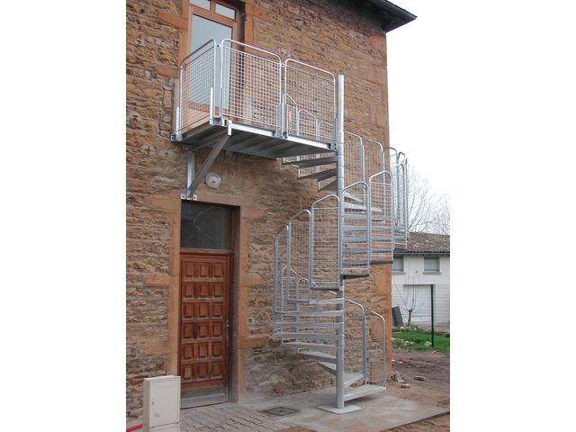 escalier h lico dal int rieur ou ext rieur contact