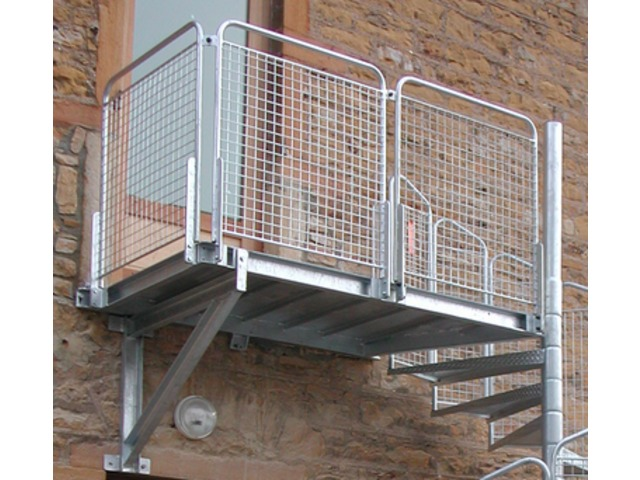 Escalier hélicoïdal intérieur ou extérieur