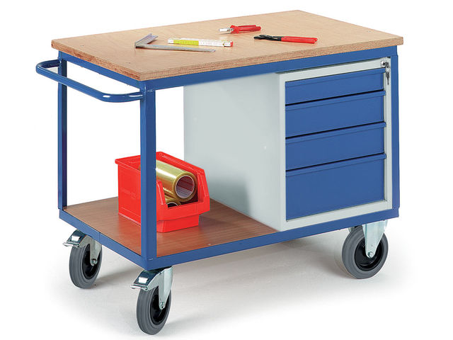 etabli roulant avec caisson tiroirs charge utile 500. Black Bedroom Furniture Sets. Home Design Ideas