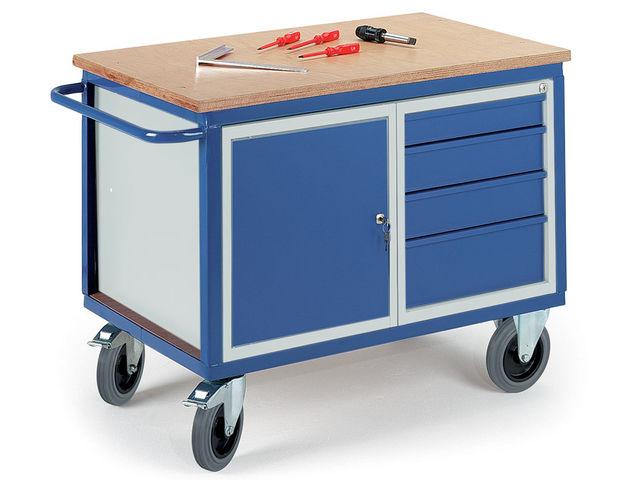 Etabli roulant avec caisson tiroirs charge utile 500 kg contact expresso france sas - Caisson roula nt ...