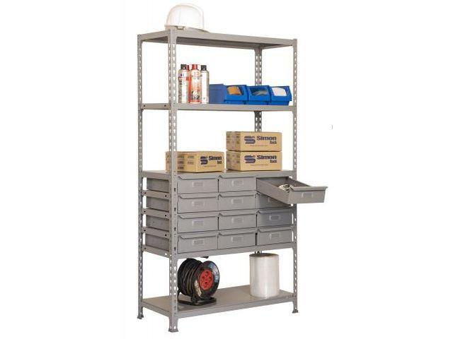 etag re avec tiroir m tallique 1800x900x400mm contact rangestock. Black Bedroom Furniture Sets. Home Design Ideas