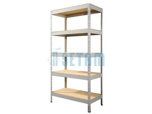 etag re m tallique de rangement 5 niveaux bois contact. Black Bedroom Furniture Sets. Home Design Ideas