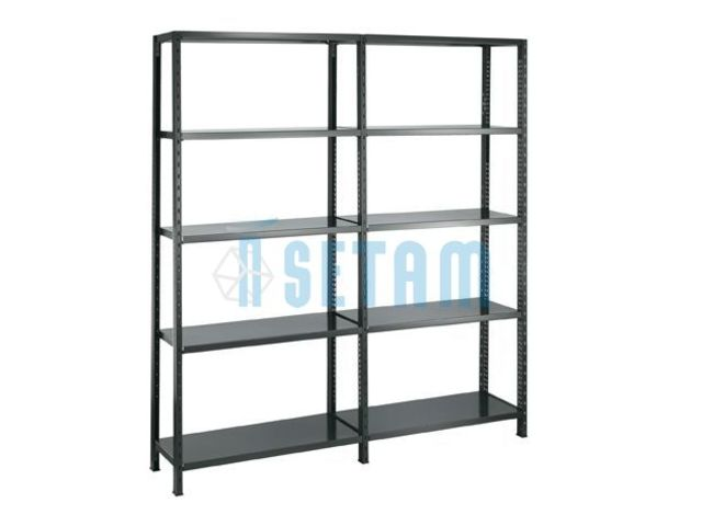 Etag re m tallique designer peint coloris noir contact - Etagere metallique modulable ...