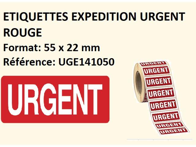 500 étiquettes livraison fragile en rouge moyen format paquet colis 140 x 40 mm