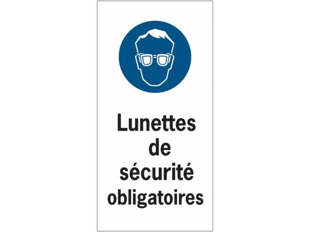06667839c443e Etiquettes de sécurité en rouleau - Lunettes de sécurité obligatoires.  Autocollants et pictogrammes