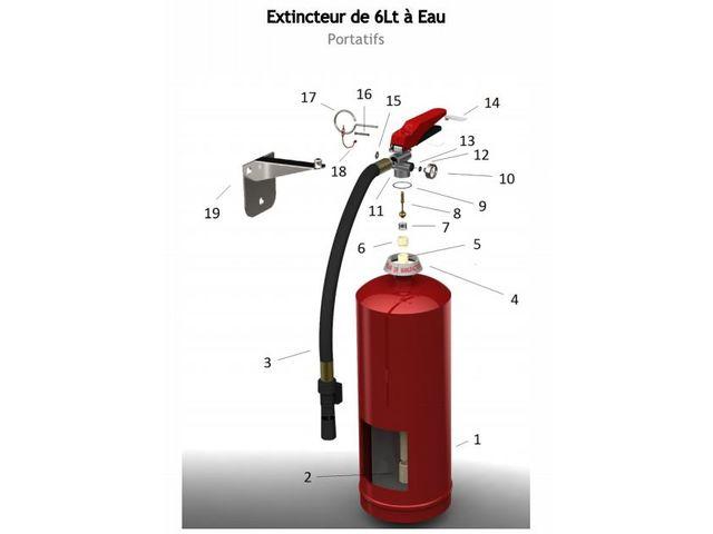 extincteur 6 litres eau pulv ris e avec additif support fixation contact mondial extincteur. Black Bedroom Furniture Sets. Home Design Ideas