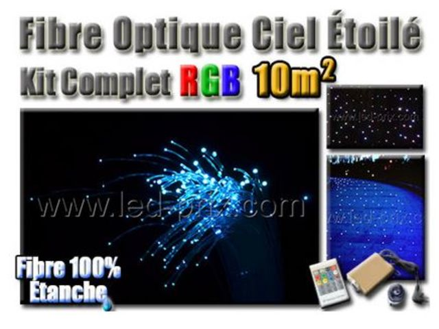 fibre optique ciel toil led rgb kit complet 10m contact sarl led prix com. Black Bedroom Furniture Sets. Home Design Ideas