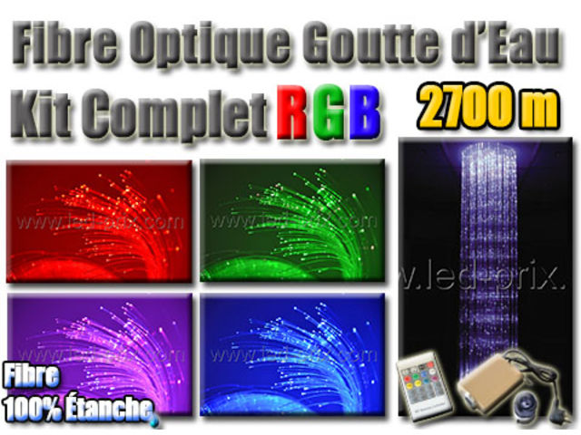 fibre optique goutte d 39 eau rgb kit complet 2700 m contact sarl led prix com. Black Bedroom Furniture Sets. Home Design Ideas