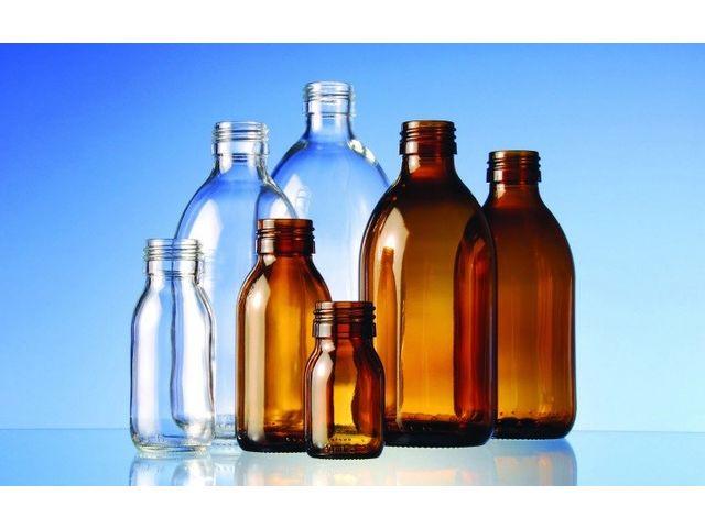 Flacon sirop en verre bague pp28 verre blanc ou verre for Ou trouver des bocaux en verre