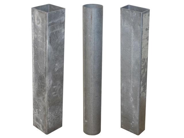 fourreau en acier galvanis pour poteau contact virages. Black Bedroom Furniture Sets. Home Design Ideas