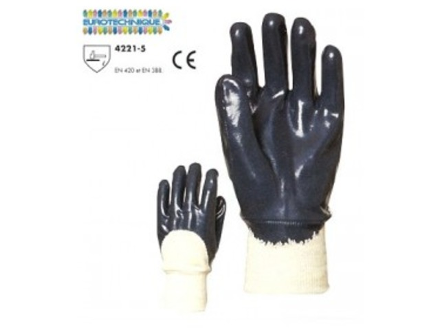 Gant nitrile bleu double enduction_ICPRO_1