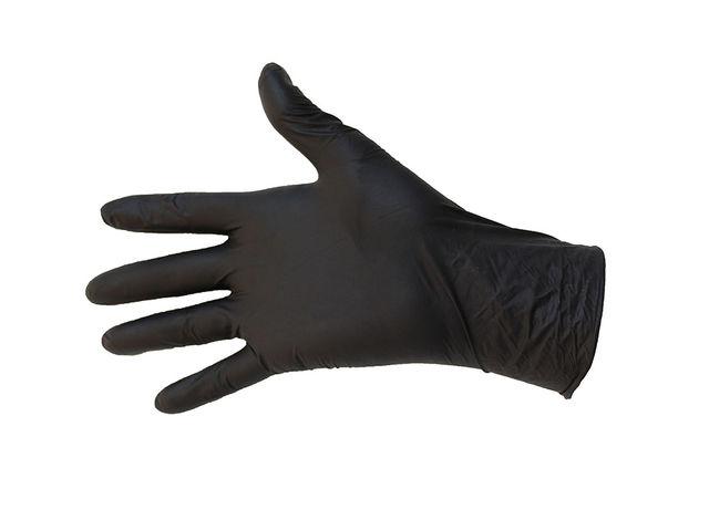 Gant nitrile sans poudre noir jetable premium parmadis - Gant latex noir ...