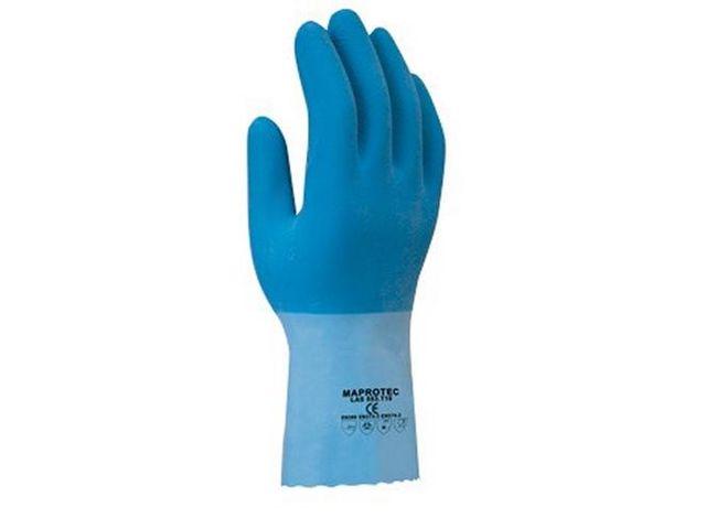 gant tout enduit latex jersey bleu main adh ris e lg 30cm taille 7 contact rangestock. Black Bedroom Furniture Sets. Home Design Ideas
