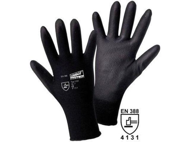 gants de protection worky 1151 100 en nylon avec rev tement pu en 388 taille 10 xl contact. Black Bedroom Furniture Sets. Home Design Ideas
