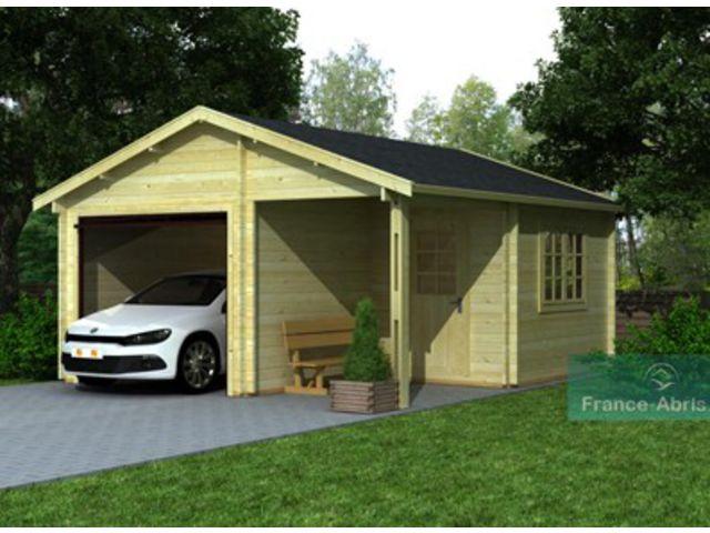 garage bois 44 mm 1 v hicule r serve id745 contact. Black Bedroom Furniture Sets. Home Design Ideas