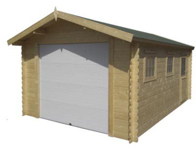 garage bois avec porte motoris e id2232 contact france abris. Black Bedroom Furniture Sets. Home Design Ideas