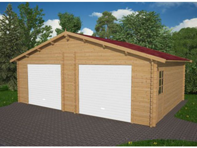 Garage Double Avec Porte Métallique ID Contact FRANCE ABRIS - Porte garage double