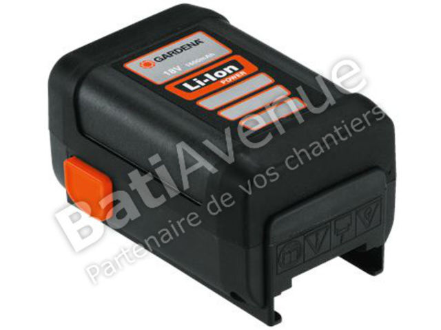 Trade-Shop Lot de 2 batteries Li-Ion haut de gamme 18 V // 2000 mAh /Équivalent de Gardena 9840-20 5ICR18//65 pour EasyCut Li-18//23R 9823 5039 9335 Allround sans fil Jet 18-Li PowerMax Li-18//32