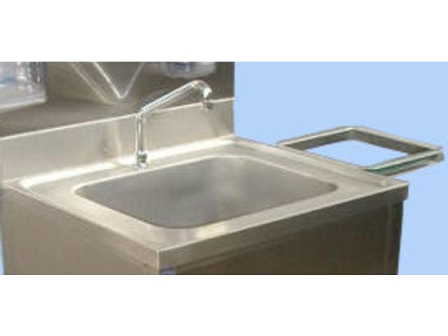 Grand lave mains en inox avec commande f morale contact - Commande femorale pour lave main ...