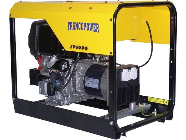 groupe lectrog ne de chantier 6 kva monophas diesel francepower fp 6000 d de contact protoumat. Black Bedroom Furniture Sets. Home Design Ideas