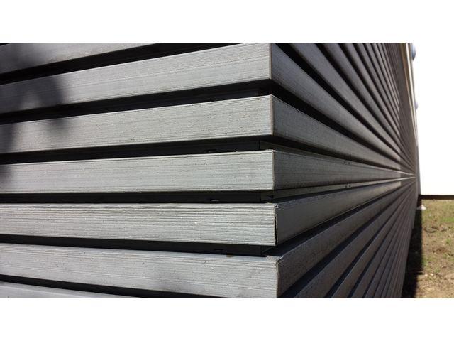 habillage de fa ade en bois composite claire voie innovant contact abri and co. Black Bedroom Furniture Sets. Home Design Ideas